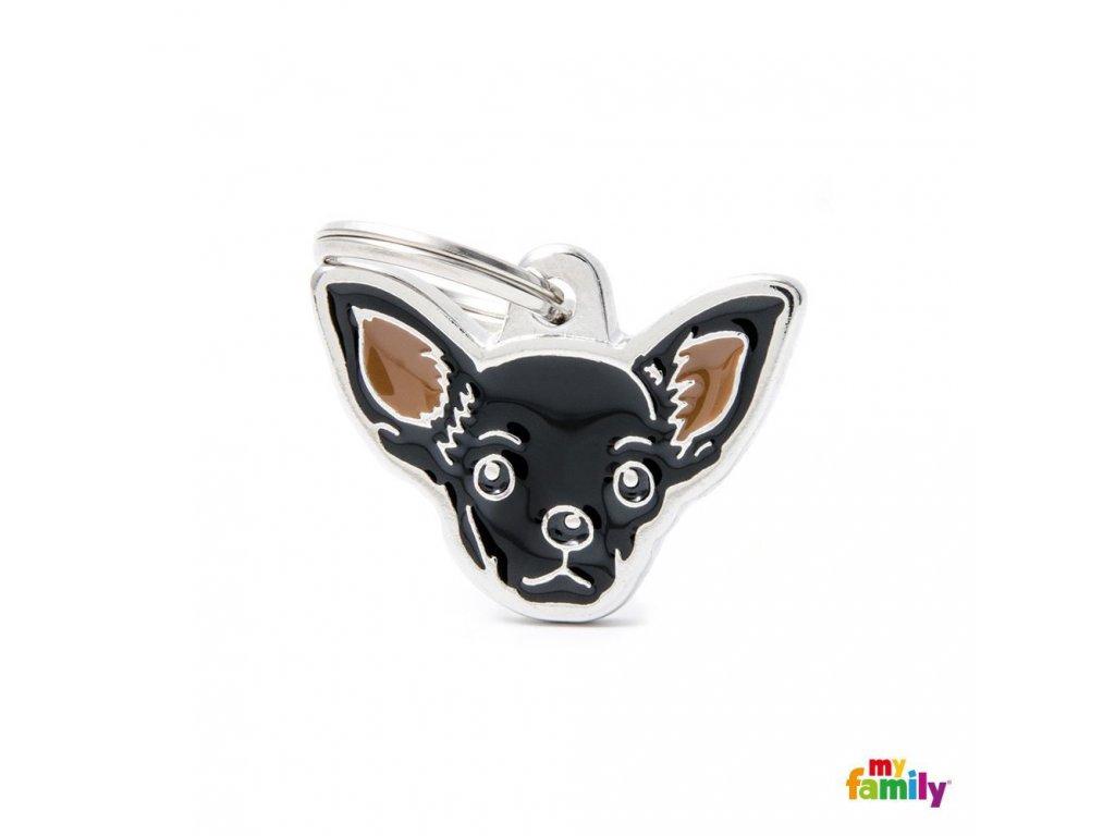 0029446 new black chihuahua id dog tag