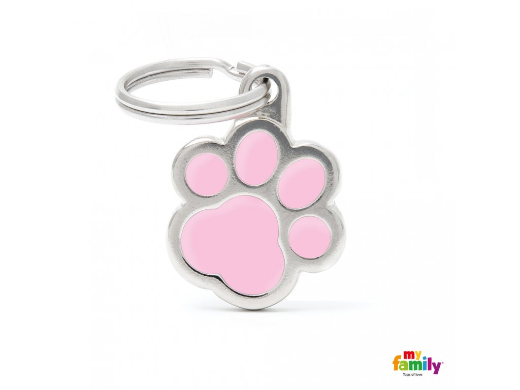 0026810 classic pink paw id tag
