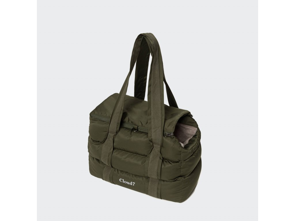 cloud7 dog carrier montreal olive s on grey