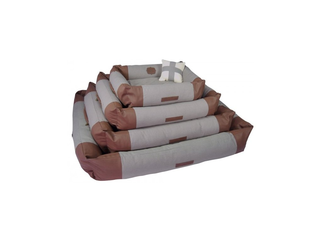 Pelíšek pro psy HH Canvas hnědý