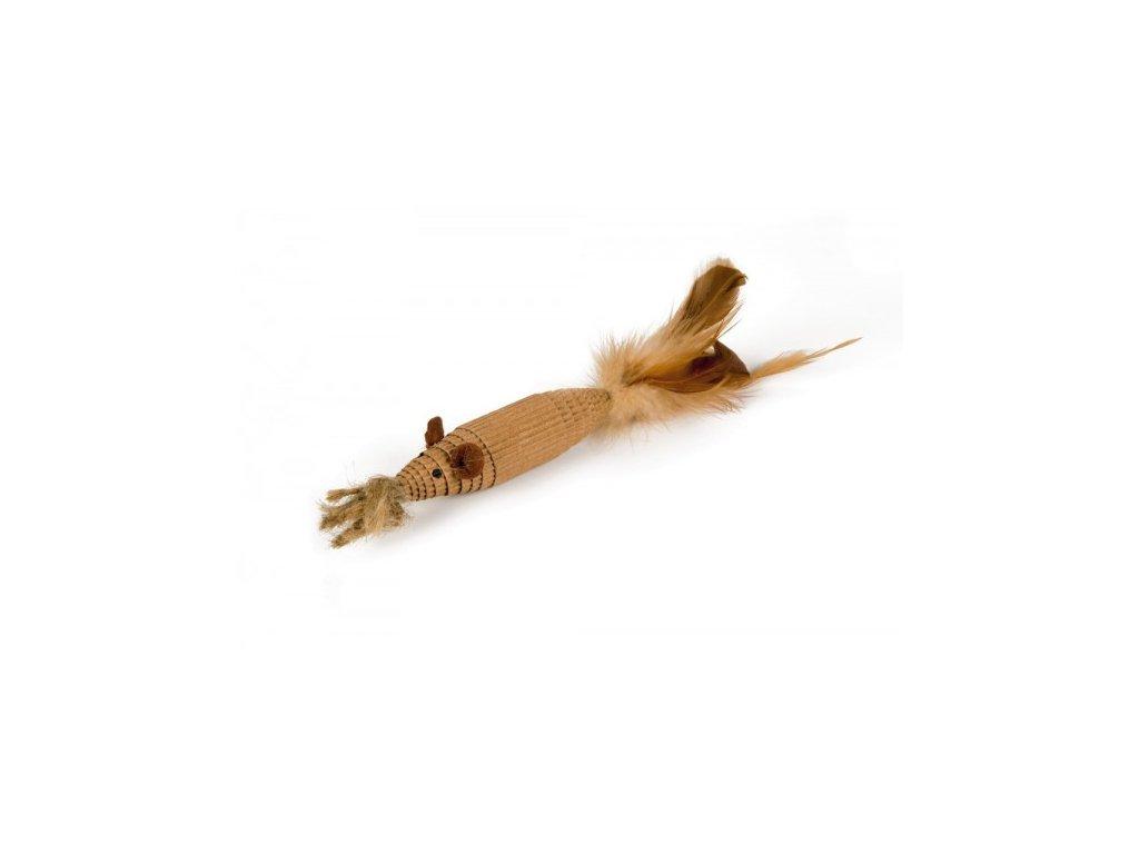 Kartonová myš s peřím Zoof BEEZTEES