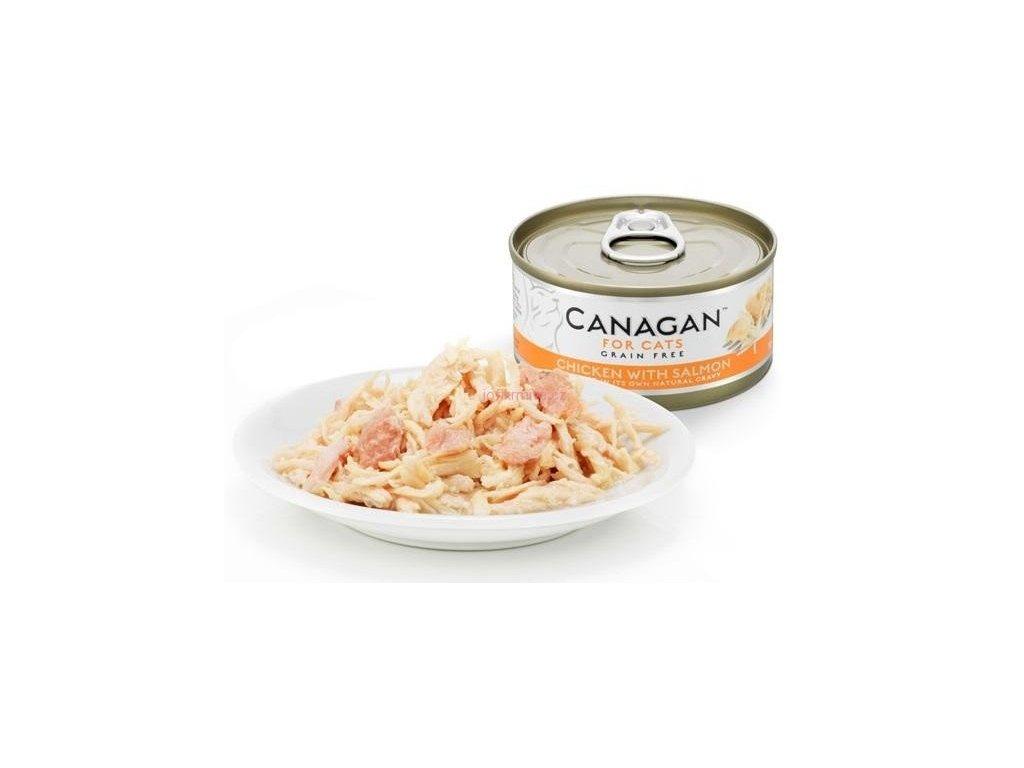 Canagan konzerva kuře s lososem 75 g