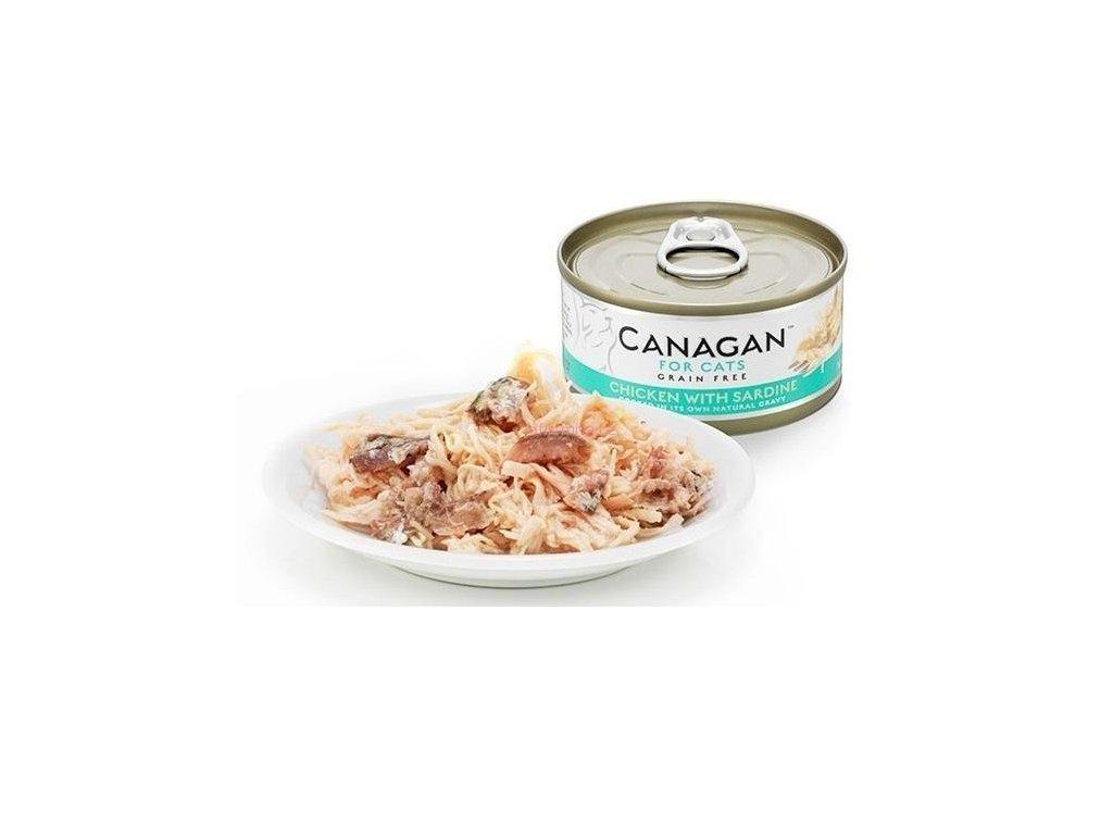 Canagan konzerva kuře se sardinkami 75 g