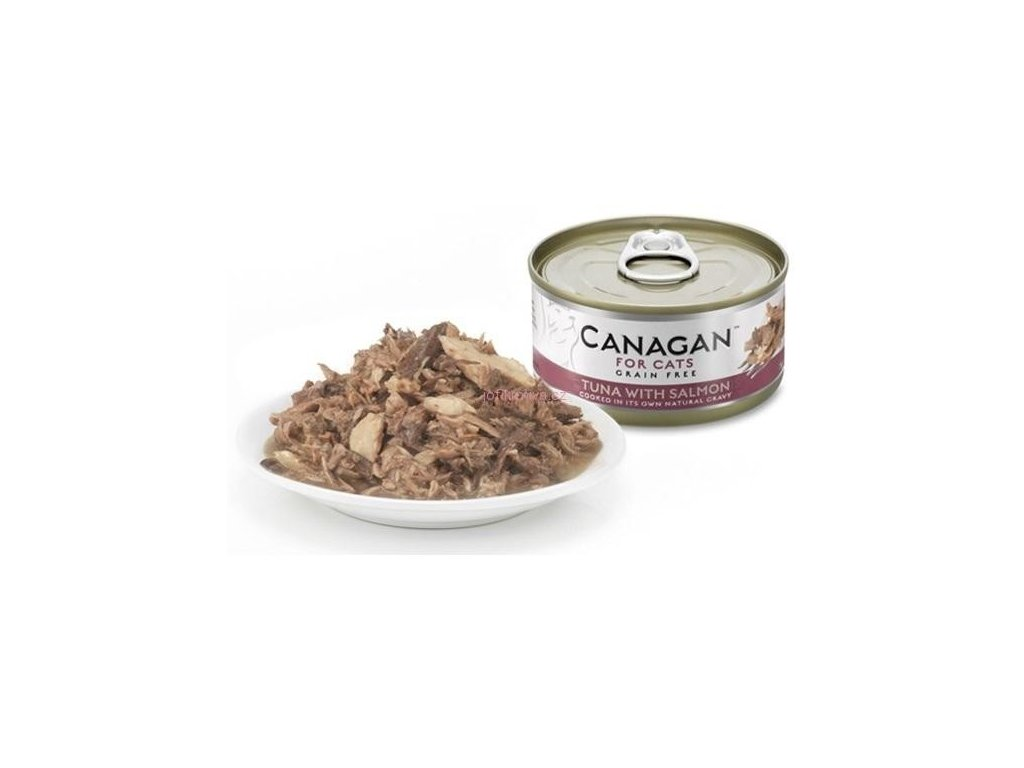 Canagan konzerva tuňák s lososem 75 g