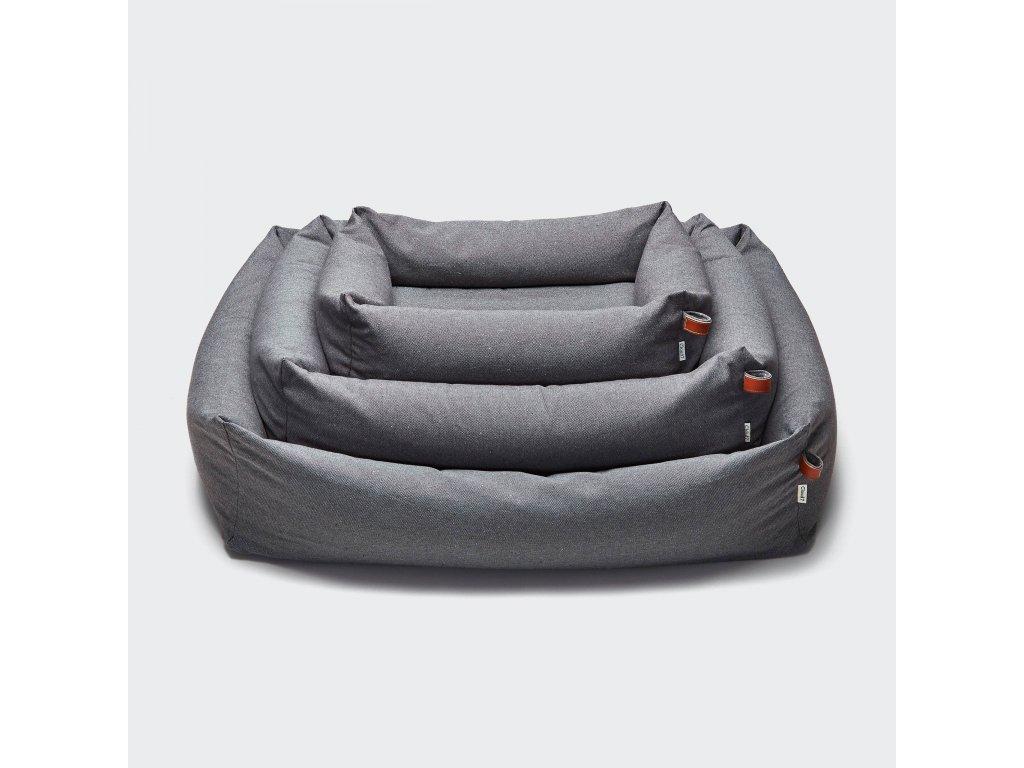 cloud7 dog bed sleepy deluxe tweed taupe sml 1