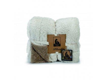 DBL deka pro psy béžovo-hnědá 150 x 125 cm