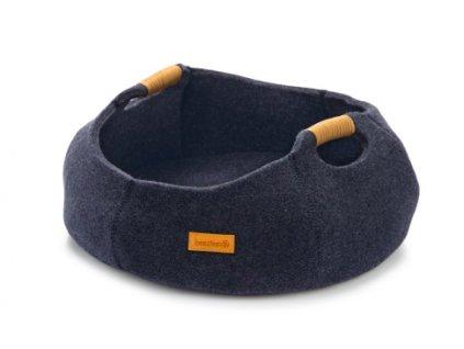 Pelíšek pro kočky Minoq BEEZTEES tmavě modrý