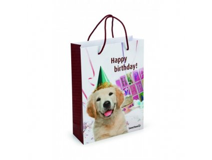 Papírová taška BEEZTEES Happy birthday