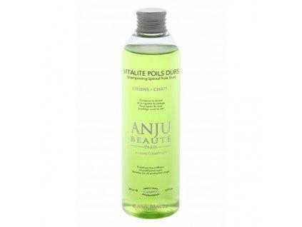 Šampon pro psy a kočky pro hrubou srst Anju Beauté Vitalite Poils Durs 250 ml