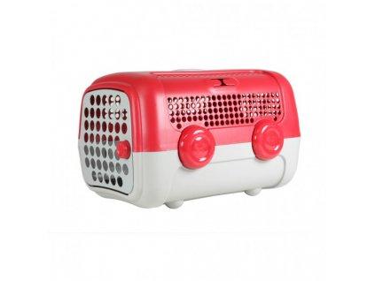 AUTO přepravka pro psy a kočky UNITED PETS  červeno šedá