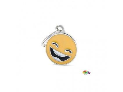 Psí známka Emotikon Smile