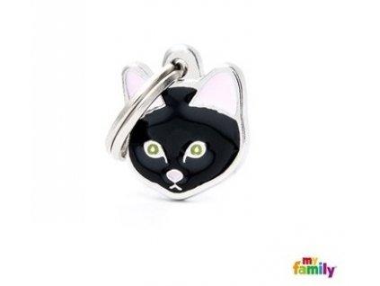Kočičí známka MY FAMILY Černá evropská krátkosrstá kočka