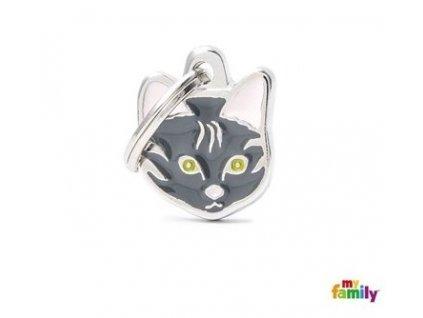Kočičí známka MY FAMILY Mourovatá evropská krátkosrstá kočka