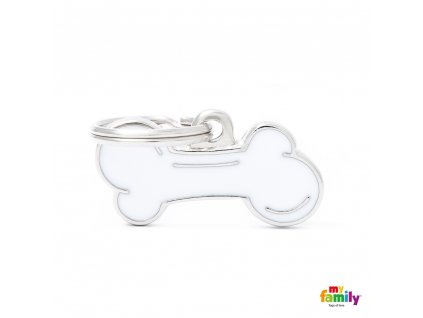 0026809 classic small white bone id tag