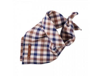Šátek pro psy burberry style kostka