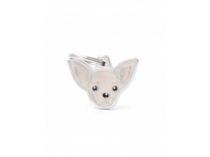 new cream chihuahua dog tag