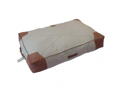 Matrace pro psy Canvas hnědá 110 x 75 x 15 cm