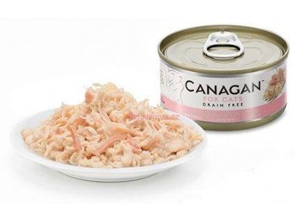 Canagan konzerva kuře a šunka 75 g