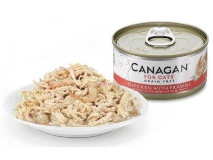 Canagan konzerva kuře s krevetou 75 g