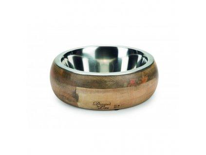 Dřevěná miska pro psy a kočky Mandira