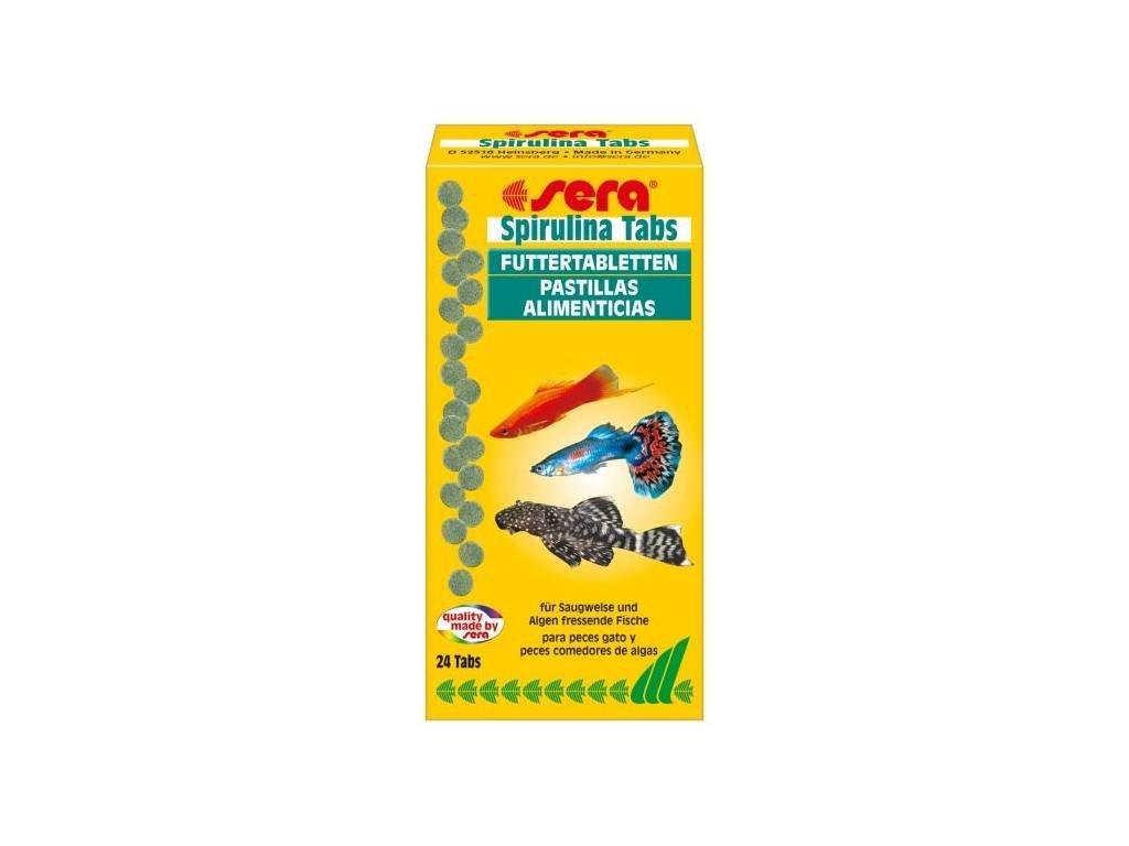 Sera krmivo pro ryby pojídající řasy Spirulina Tabs 24 tbl.