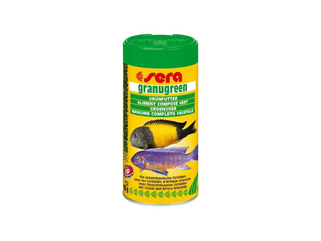 Sera krmivo pro býložravé cichlidy Granugreen 250ml