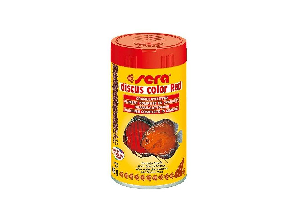 Sera doplňkové krmivo pro terčovce a jiné náročné ryby Discus Color Red 100ml