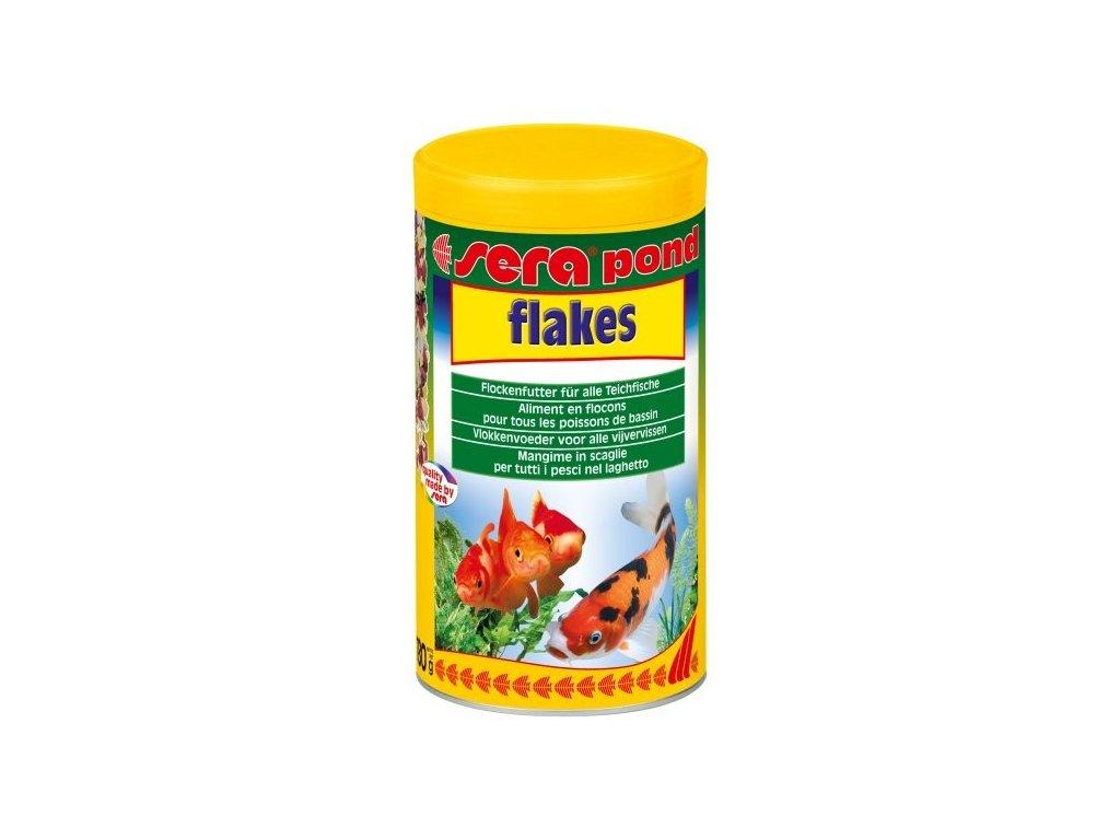 Sera kompletní krmivo pro ryby v jezírku Pond Flakes 1000ml