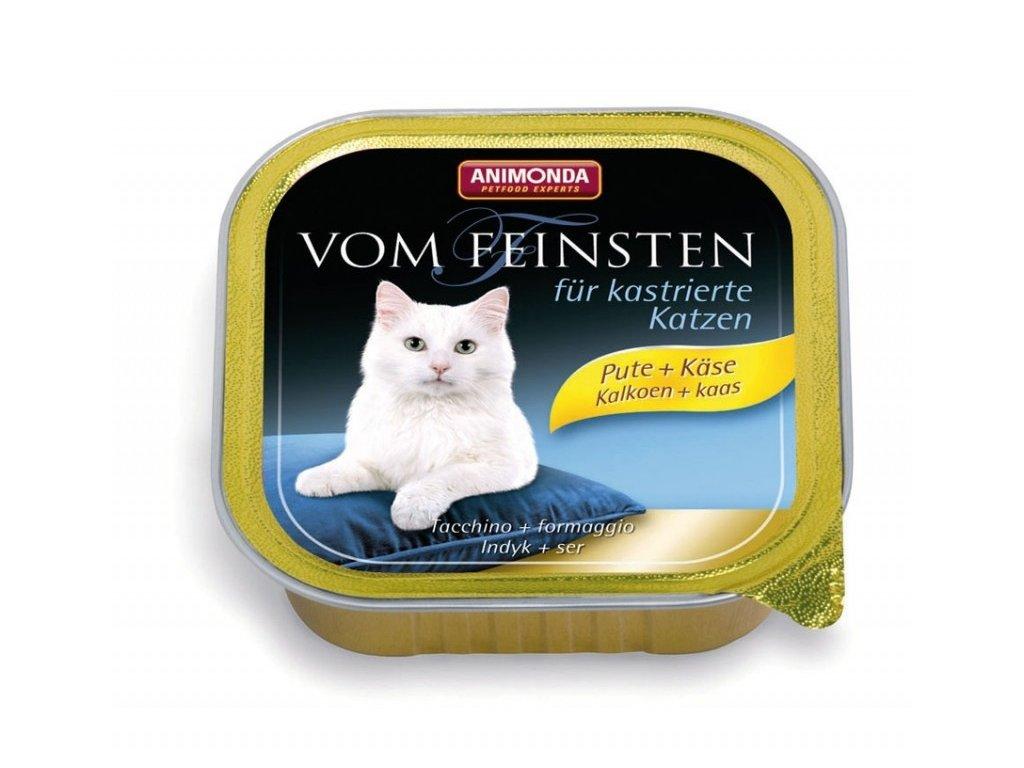 Animonda Vom Feinsten paštika pro kastrované kočky krůta+sýr 100g
