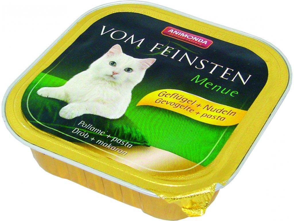 Animonda Vom Feinsten Menue paštika pro kočky drůbeží+těstoviny 150g