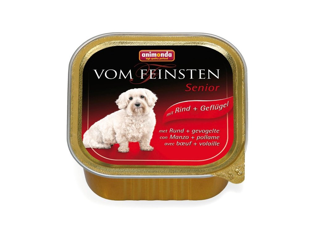Animonda Vom Feinsten Senior paštika pro psy hovězí+kuře 150g