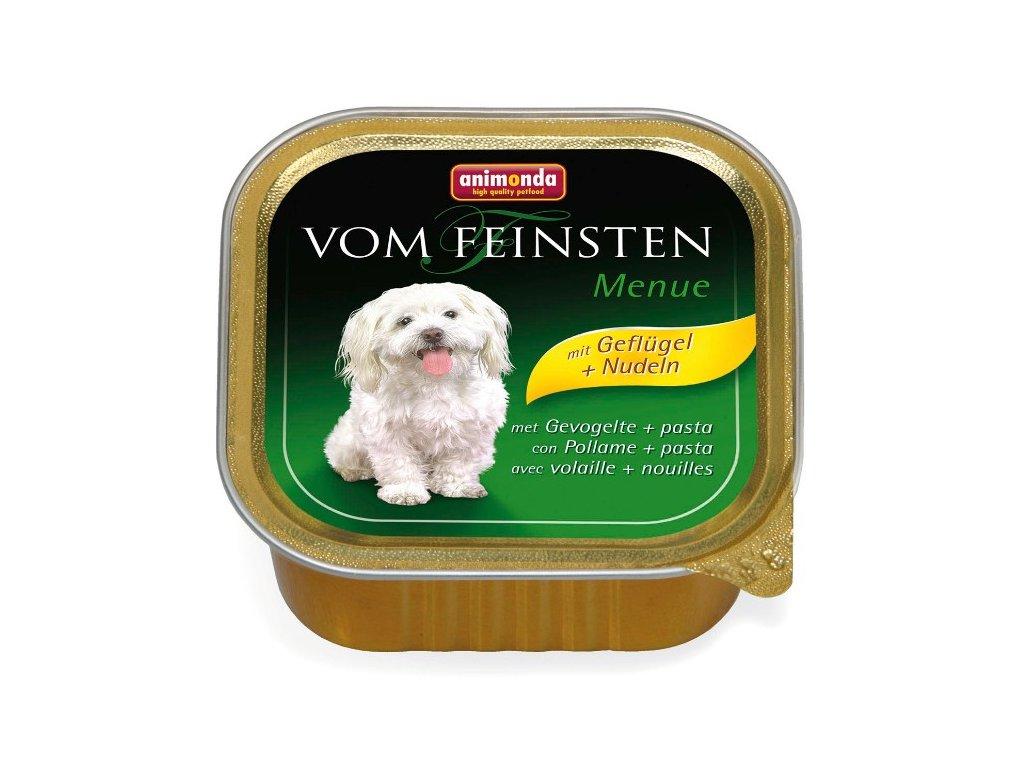 Animonda Vom Feinsten Menue paštika pro psy drůbeží+těstoviny 150 g