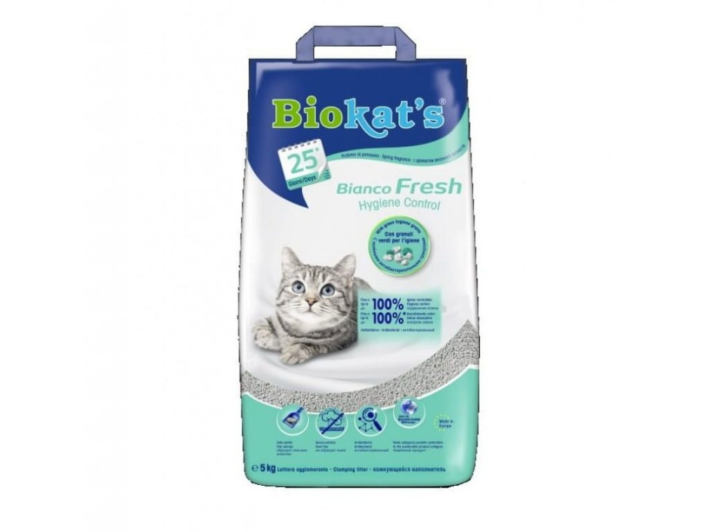 Biokat's Bianco Fresh Control podestýlka 5 kg