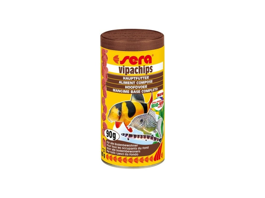 Sera speciální krmivo pro řasožravé ryby Vipachips 250ml