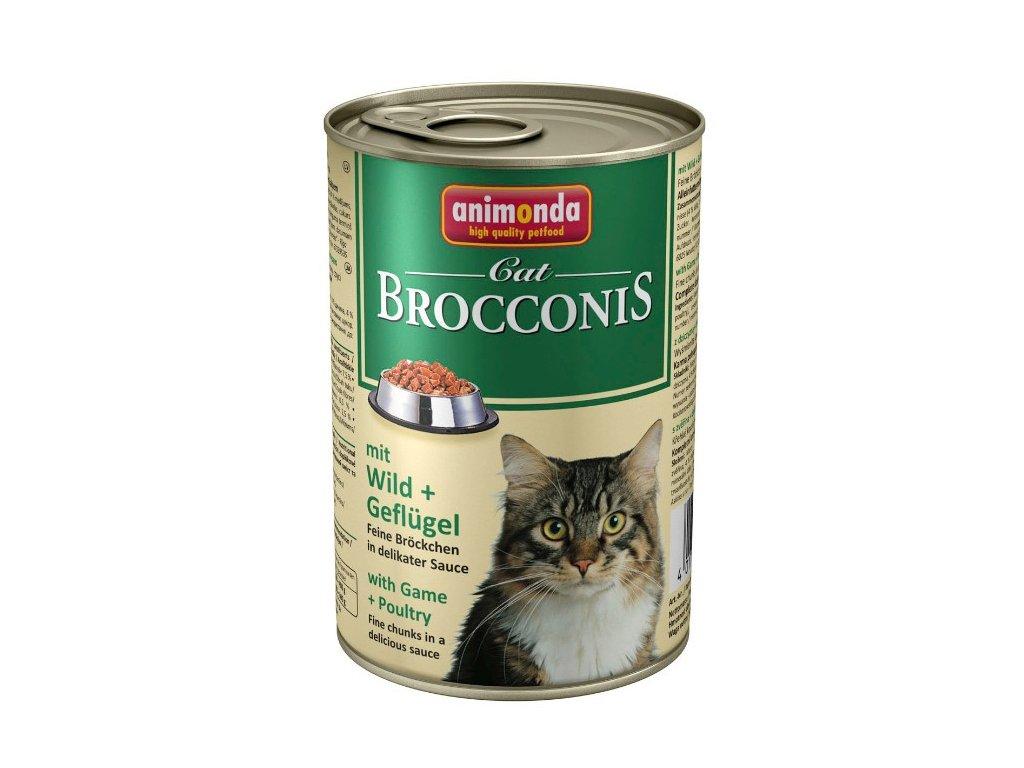 Animonda Brocconis konzerva pro kočky zvěřina + drůbež 400 g