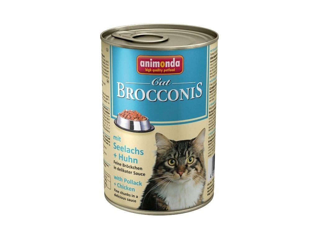 Animonda Brocconis konzerva pro kočky losos+kuře 400g