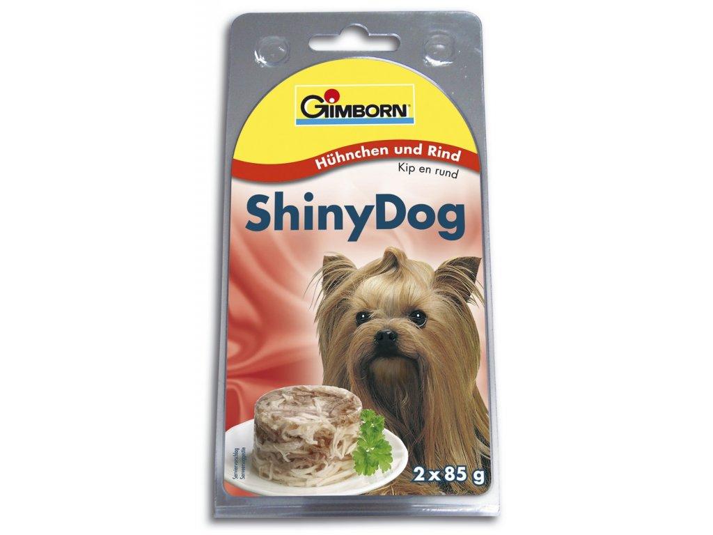 ShinyDog konzerva kuřecí + hovězí 2x 85 g