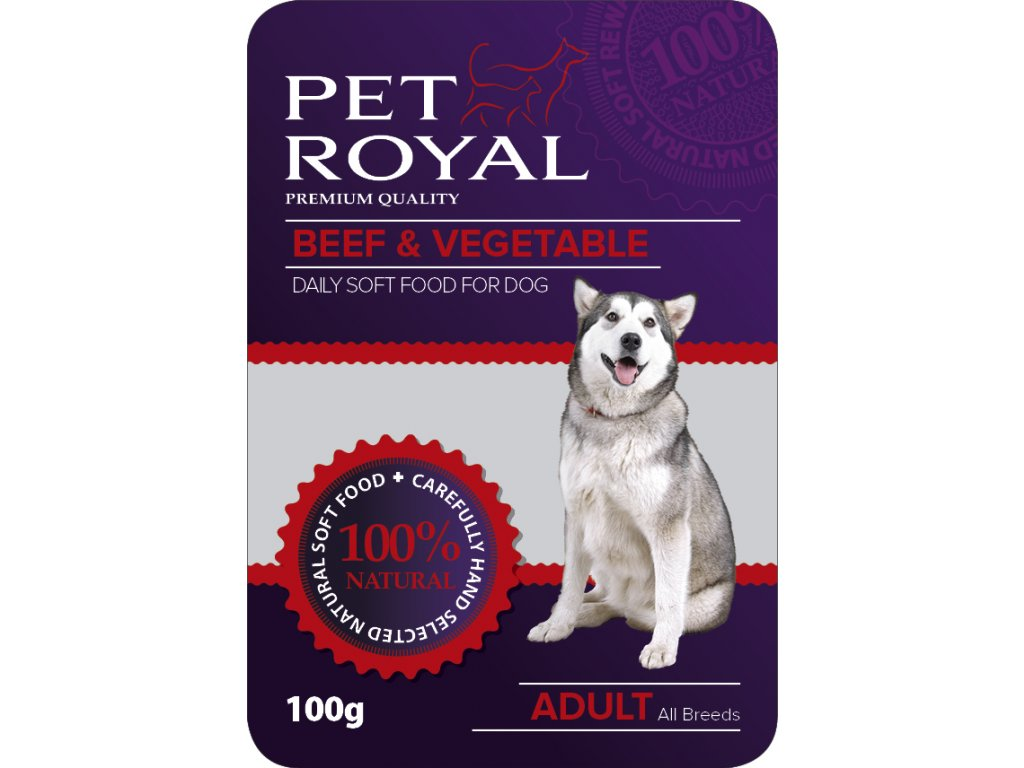 Kapsička Pet Royal Dog hovezi maso+zelenina 100g