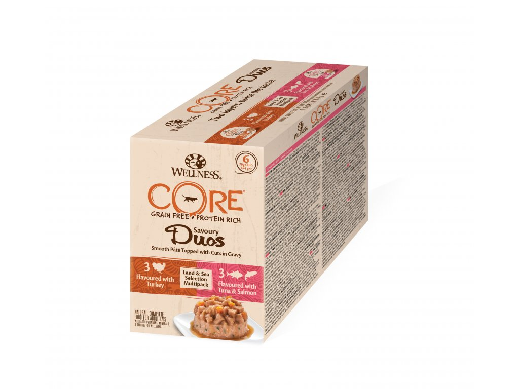 Wellness CORE Savoury Duos Land & Sea Selection Multipack
