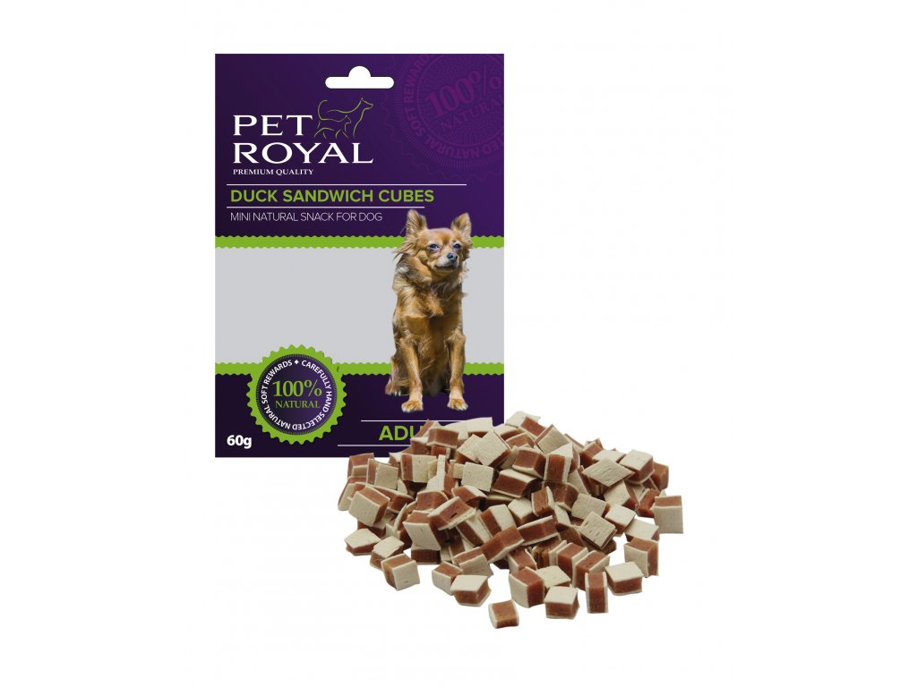 Pet Royal Dog Mini kachni sandwich kostky 60g (expirace: 23.2.2021)