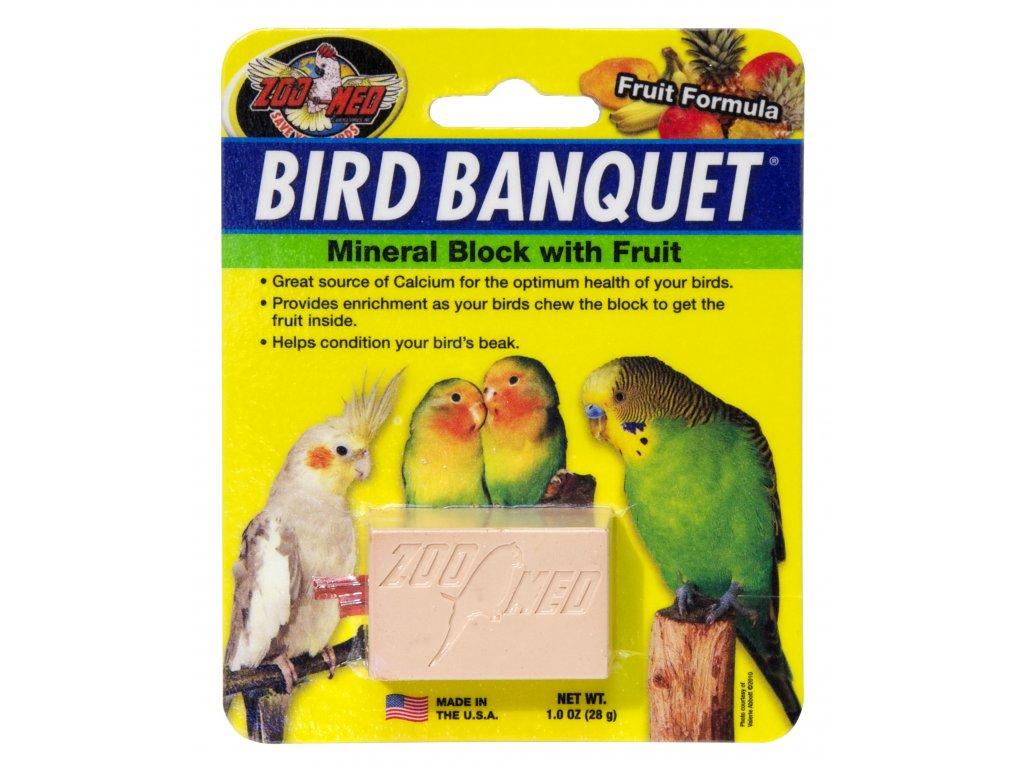 Bird Banquet minerální blok s ovocem S