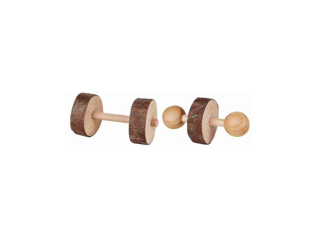 Huhubamboo dřevěné činky 4,5x9cm 2ks