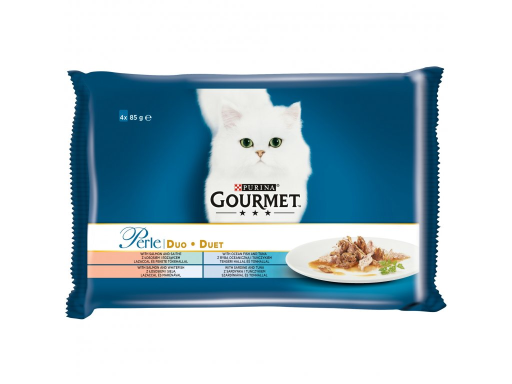 Kapsičky Gourmet Perle Duo Multipack Rybí Duo 4x85g