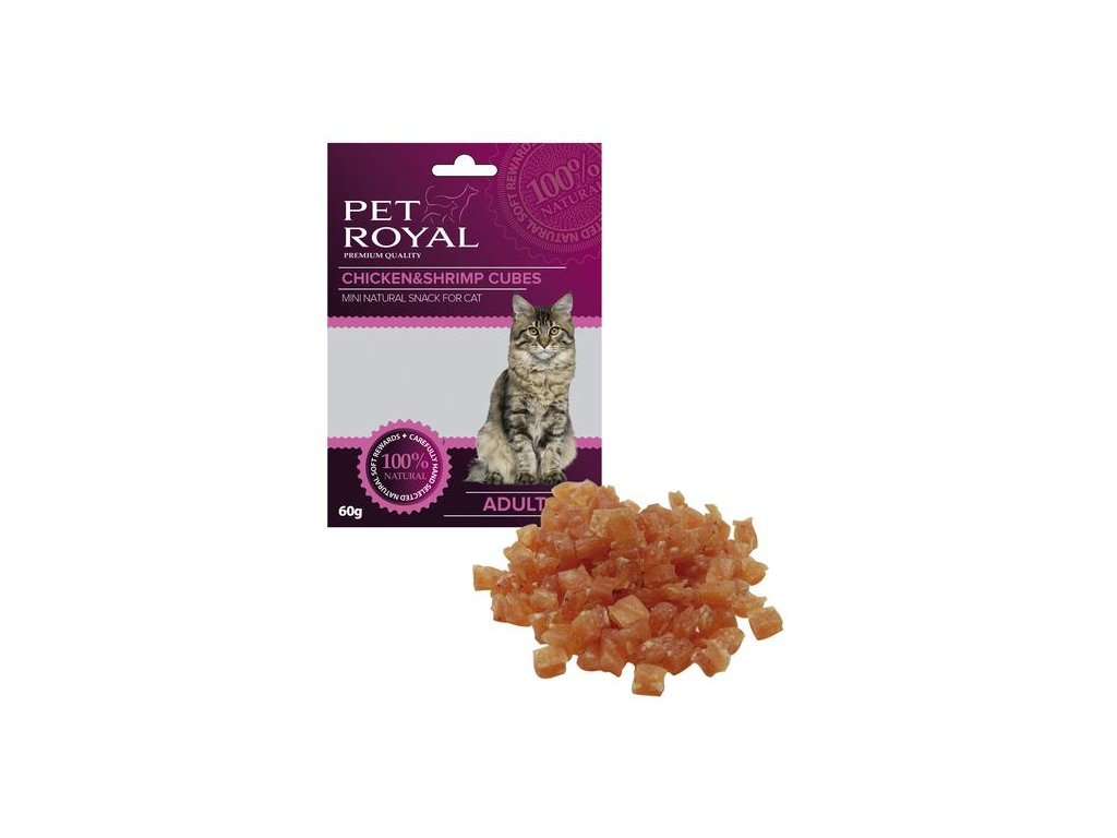 Pet Royal Cat kostky kuře a kreveta 60g