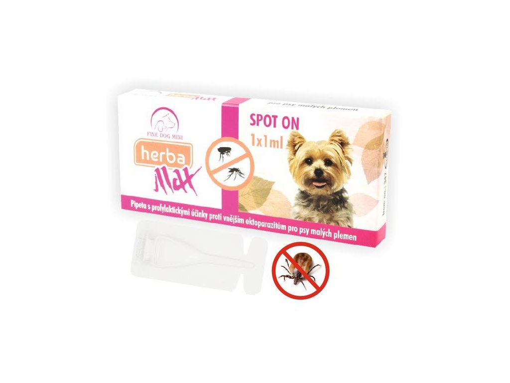 Herba Line Spot-on antiparazitní citrus pes malý 1x1ml