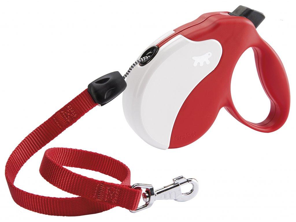 Vodítko FERPLAST AMIGO L lanko červeno-bíle