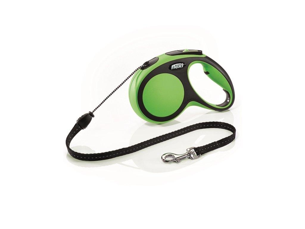 Flexi New Comfort XS pásek 3m/12kg zelená