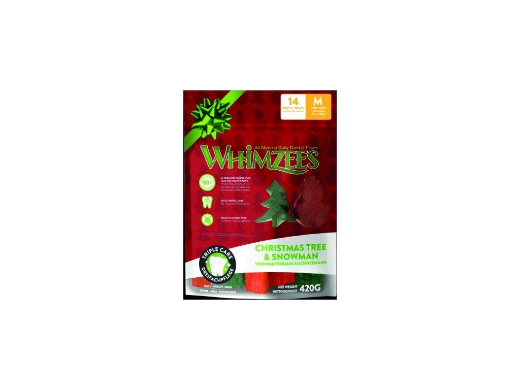 WHIMZEES Dental stix M vánoční edice 12ks