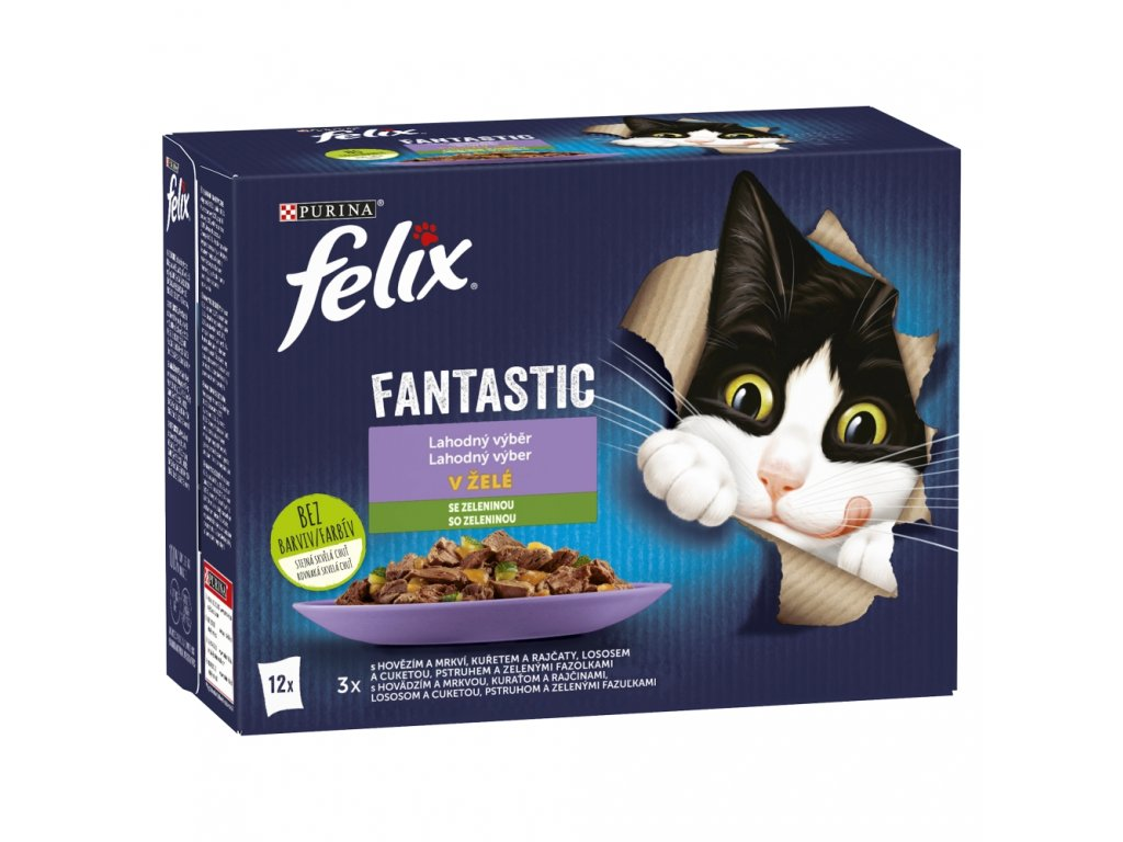 Kapsička FELIX Fantastic multipack výběr se zeleninou 12x85g