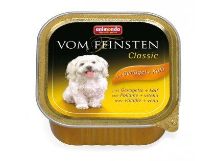 Animonda Vom Feinsten Classic paštika pro psy drůbeží+telecí 150g